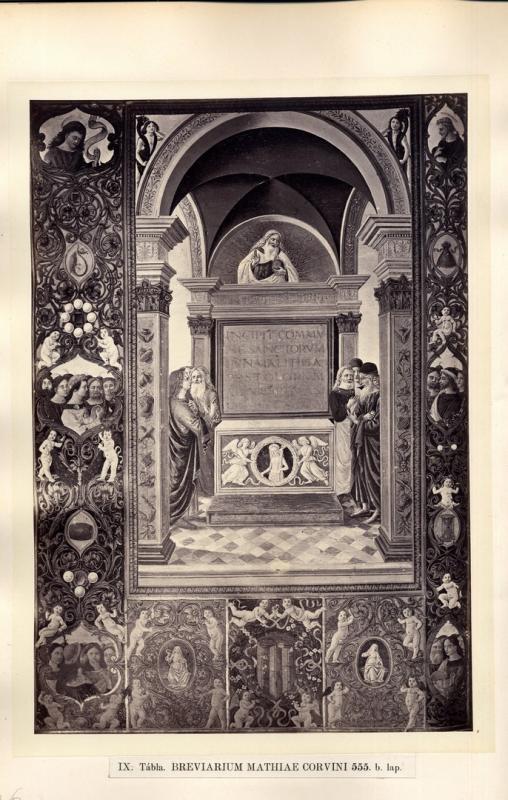 Díszlapok a római könyvtárakban őrzött négy Corvin-kódexből. Pest, 1871. Országos Széchényi Könyvtár / National Széchényi Library
