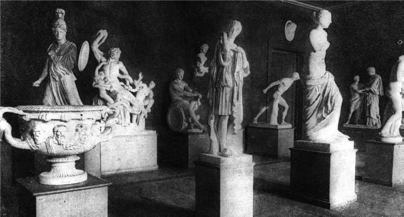 Görög szobrok gipszöntvényei a Magyar Nemzeti Múzeumban.  / Plaster casts of Greek statues in the Hungarian National Museum. In: Magyar Salon. 1888, VIII. kötet, 465. oldal. / Volume VIII. p. 465. ELTE Egyetemi Könyvtár / ELTE University Library